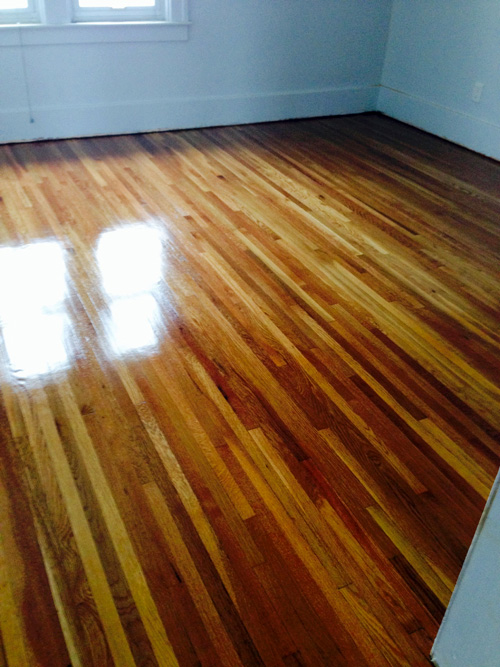 sanding a hardwood floor after refinishing